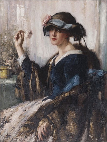 The white rose - Fernand Toussaint (belgium, 1873-1955)