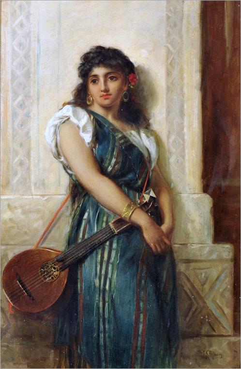 Thomas Kent Pelham(english, ca. 1831-1907) - The Spanish Musician