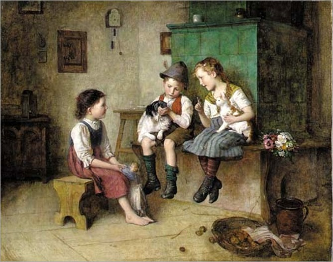 time-to-be-friends - Edmund Adler (1876 – 1965, Austrian)
