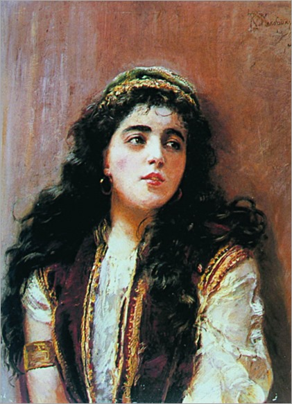 turkish lady by Konstantin Yegorovich Makovsky