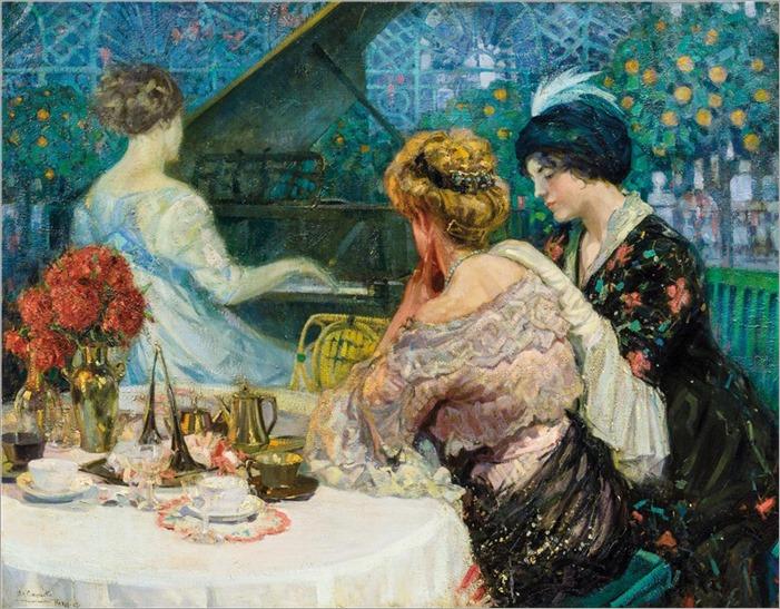 Ullisse Caputo (1857-1928) The Piano Teacher. 1913