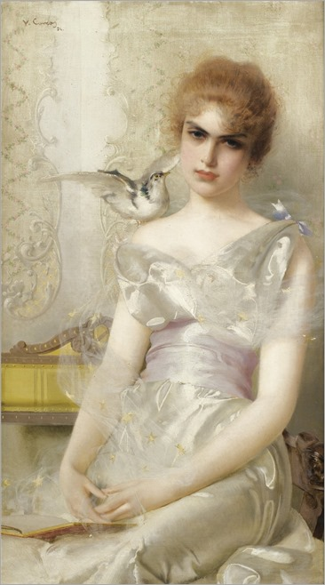 Vittorio Matteo Corcos (1859-1933) Portrait of A Young Lady. 1894