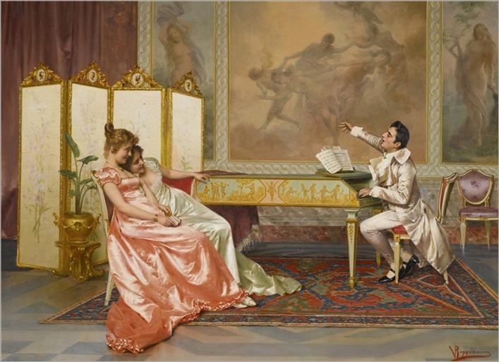 Vittorio Reggionini (1855-1938) The Recital