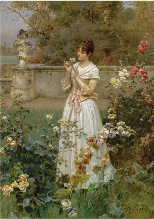 Wilhelm Menzler (German,1846-1930) The Rose of All Roses.1889