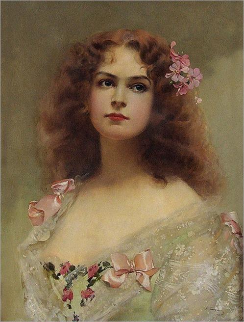 young lady(Italian, 1859-1933)-Vittorio Matteo Corcos