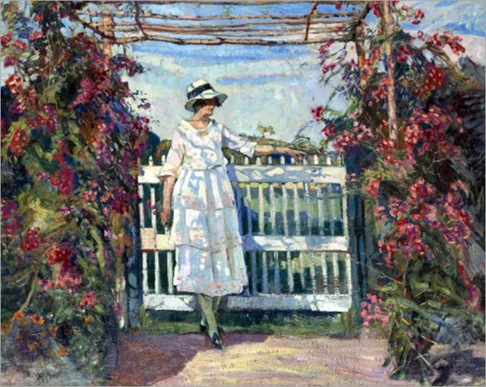 Young Woman in a Garden - Edgard Wiethase
