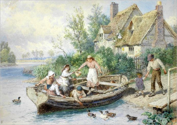 11.MYLES BIRKET FOSTER (british, 1825-1899)