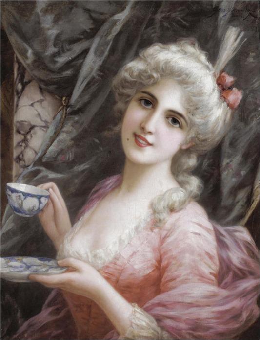 9-ÉMILE EISMAN-SEMENOWSKY (POLISH-FRENCH, 1857-1911)-teatime