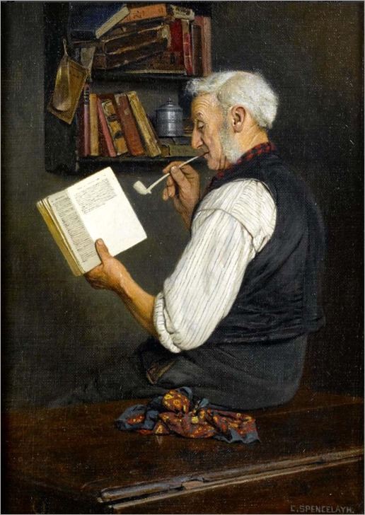 a lover of Dickens_Charles Spencelayh
