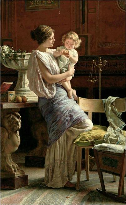 A mother's love by Guglielmo Zocchi