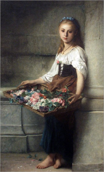 Adolphe Jourdan - The Flowerseller