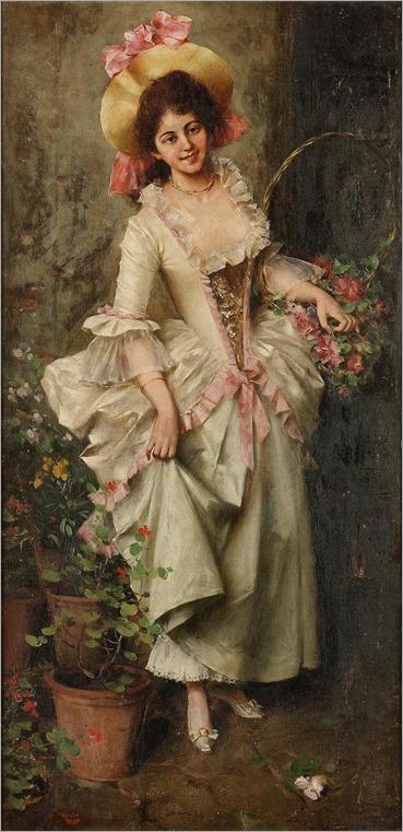 Adriano Cecchi (1850-1936) - Italian flower seller