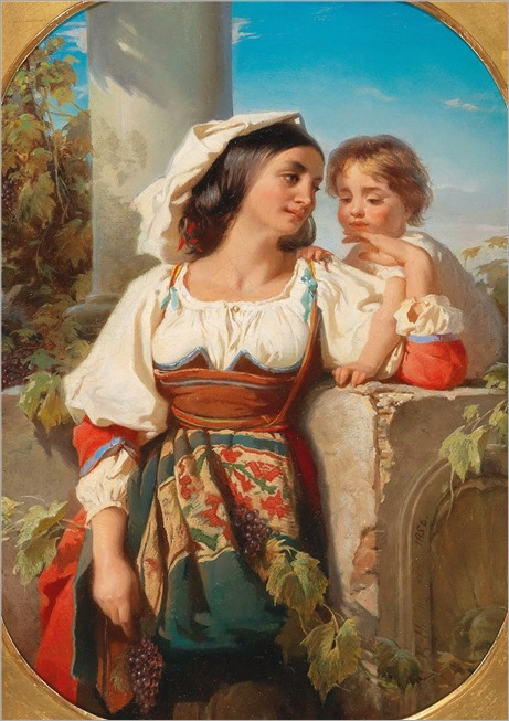 Alexander Robert Hillingford (1828-1904) A moment of affection. 1856