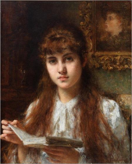 Alexei Harlamoff (1840-1905) Girl Reading
