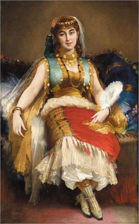 ALPHONSE XAVIER MONCHABLON FRENCH, 1835-1907 ODALISQUE TURQUE