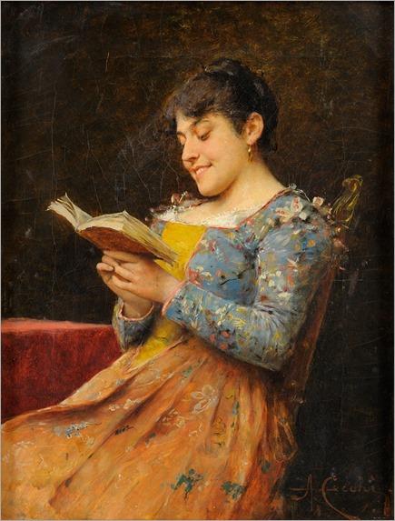 amusing book_Adriano Cecchi (italian, 1850-1936)