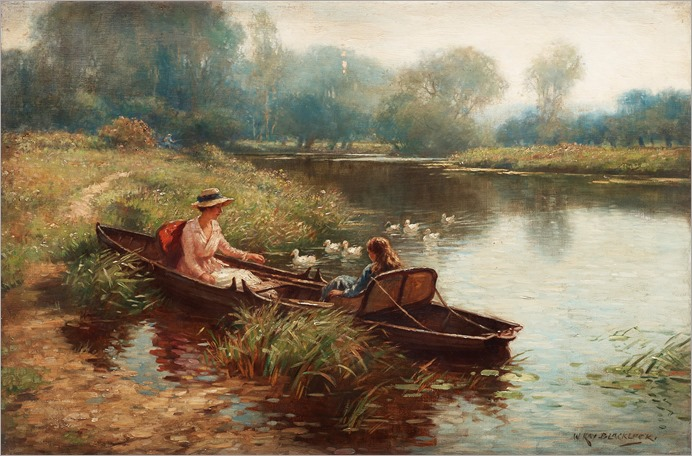 boating on the river_William Kay Blacklock