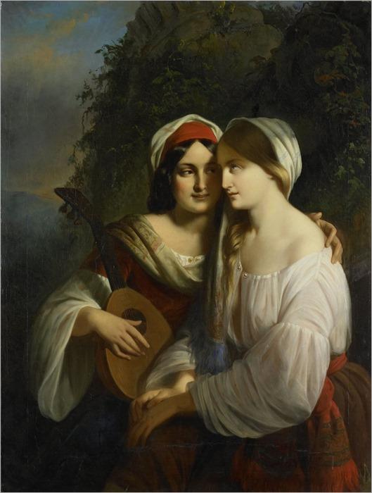 Calisch, Moritz - Twee vrouwen in Italiaanse dracht
