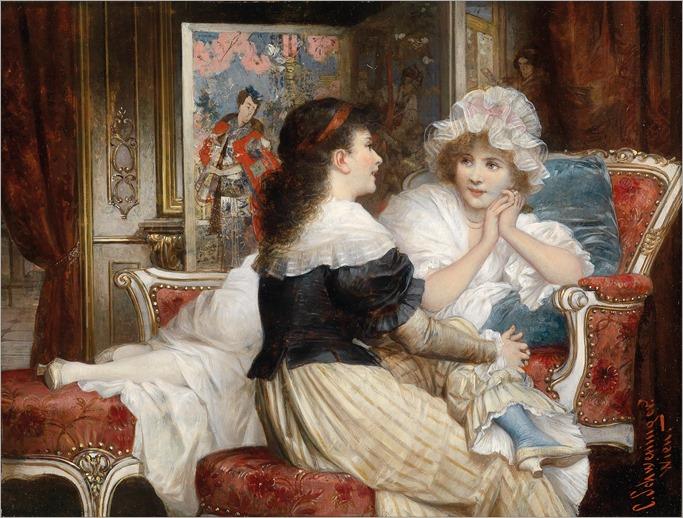 Carl Schweninger jun. (1854-1903),Zwei Freundinnen