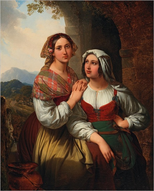 Carl von Blaas (1815-1894) Two Italian girls