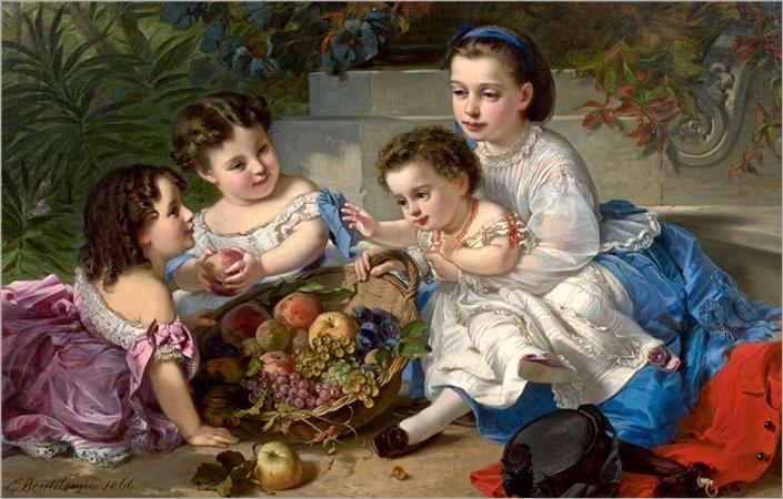 Charles Edouard Boutibonne (1816-1897) Les enfants aux fruits. 1866