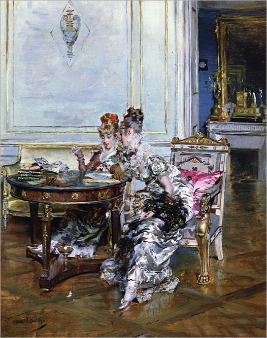 confidences -Giovanni Boldini