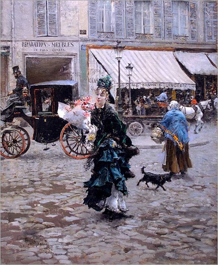Crossing the Street - 1875 - Giovanni Boldini (italian painter)
