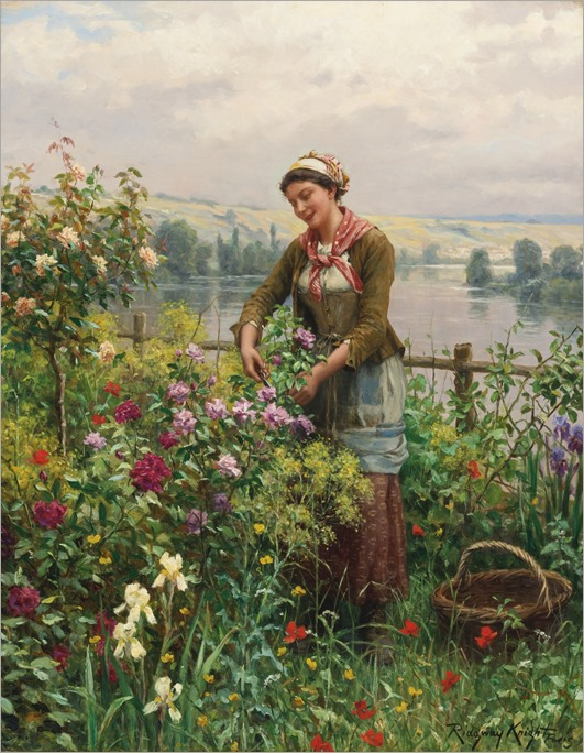 Daniel Ridgway Knight (american, 1839-1924)_in the garden