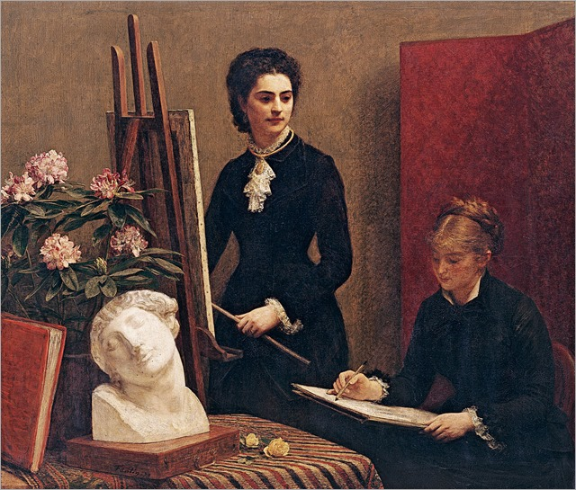 Drawing Lesson in the Workshop (1879). Henry Fantin-Latour (French, 1836-1904)