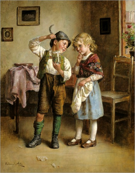 Edmund Adler ~ Admiring the day's catch