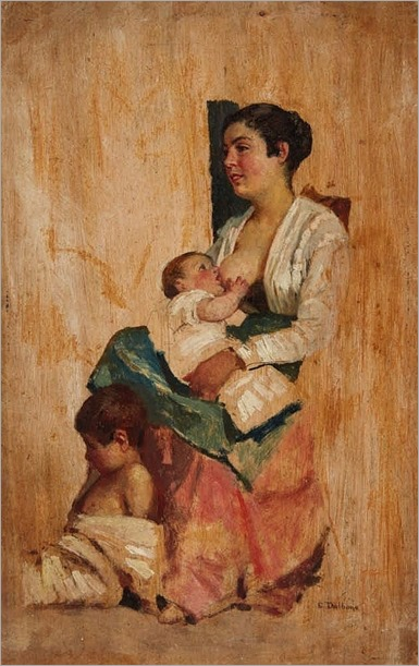 Edoardo Dalbono- A Mother with Child
