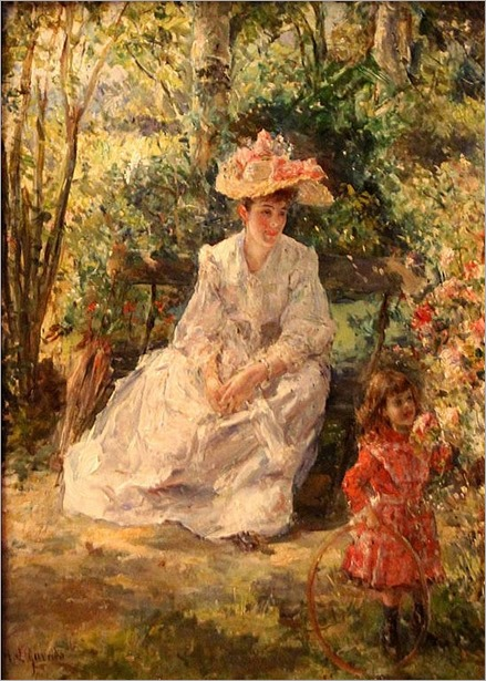 Eduardo Leon Garrido_(Madrid, 1856-Caen, Francia, 1949). Jugando al parque