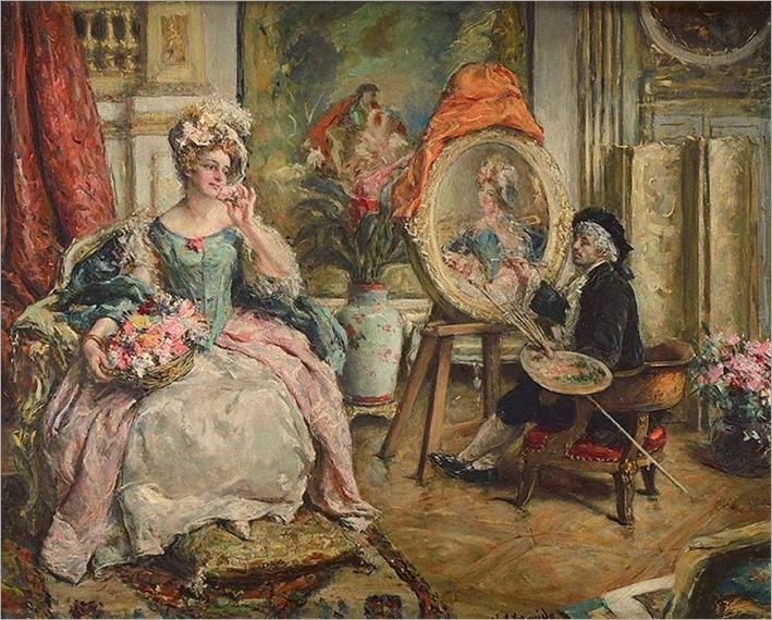 Eduardo Léon Garrido (Spanish, 1856-1949) Le peintre et son modèle