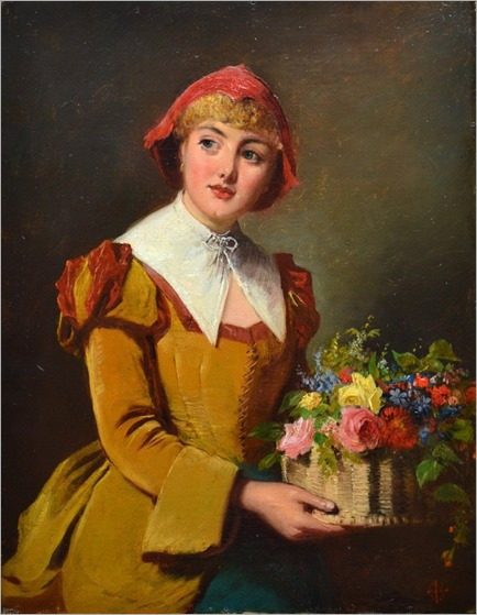 Edward-Charles-Barnes_the flower seller