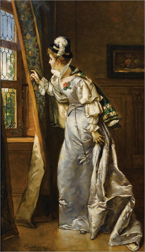 elegant lady at the window_L. Bakalowicz