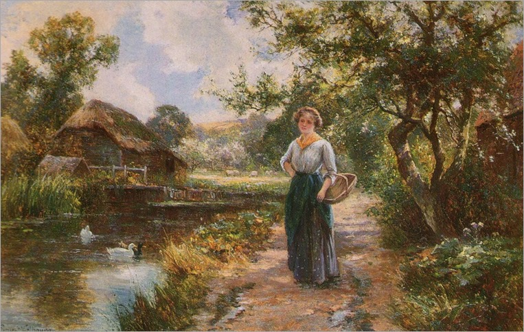 Ernest Walbourn (british-19-20th century)-summer day dreams