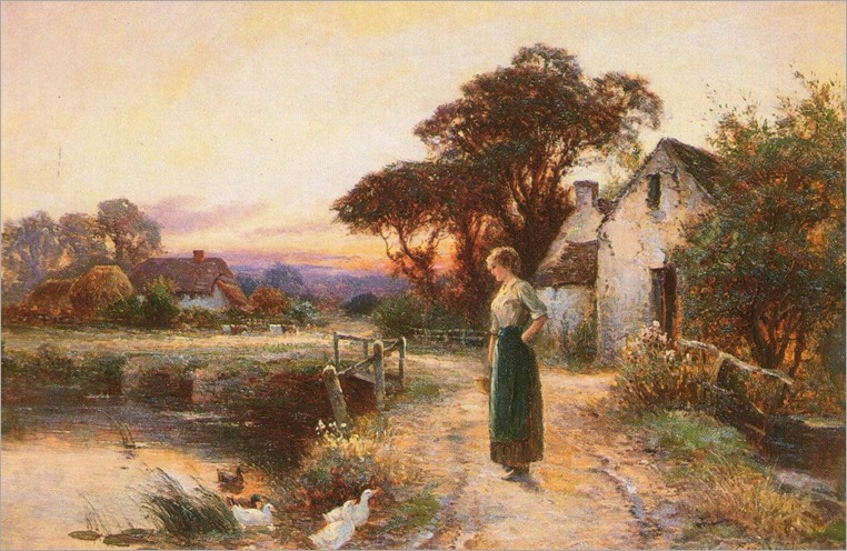 Ernest Walbourn (british-19-20th century)-the setting sun