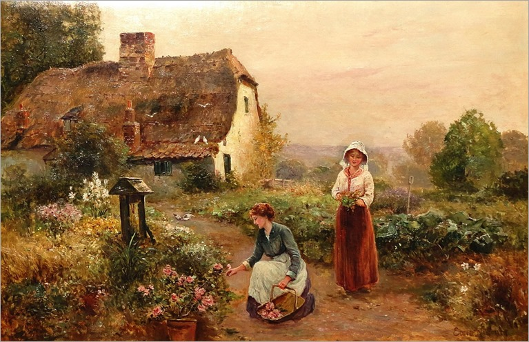 Ernest Walbourn (english, 1872-1927) - The Flower Pickers