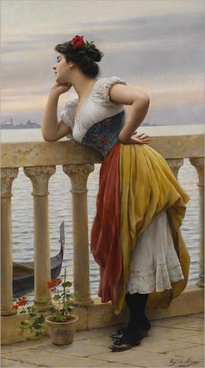 Eugen von Blaas (Austrian, 1843-1931) Anticipation. 1911