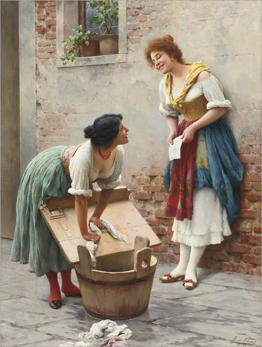 Eugen von Blaas (austrian, 1843-1931)_SHARING THE NEWS