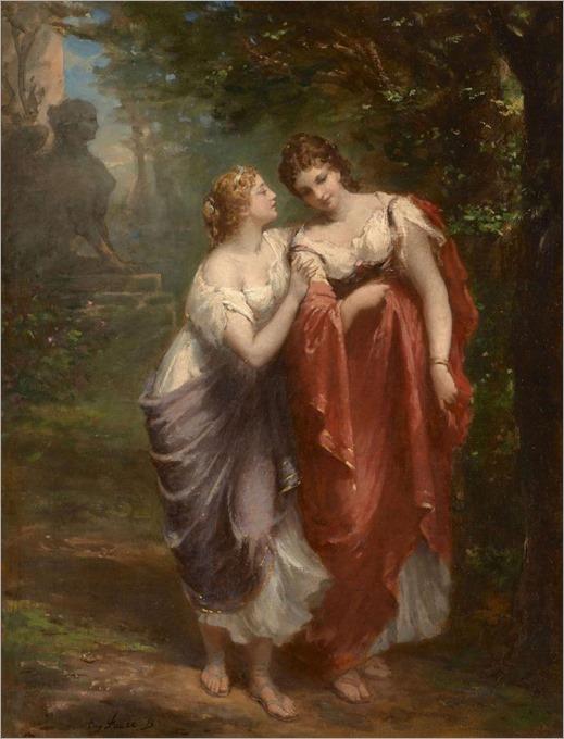 Eugène Faure (Seyssinet, 1822 - Bourg-Saint-Andéol, 1878 )Les deux amies