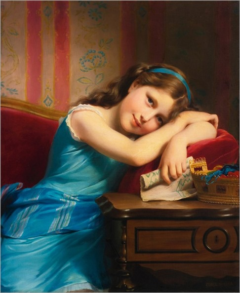 Fritz Zuber-Bühler (Swiss, 1822–1896) Daydreaming