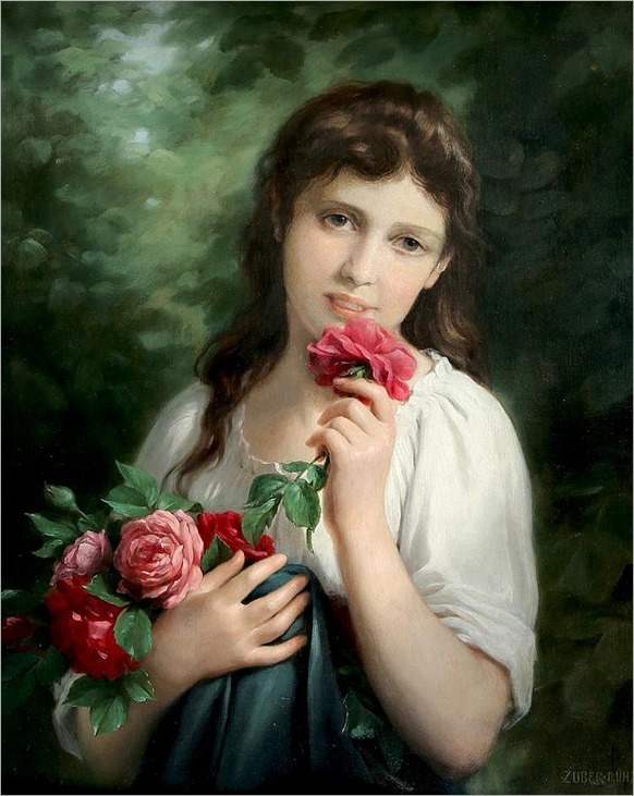 FRITZ ZUBER-BUHLER (SWISS 1822-1896)-the summer roses