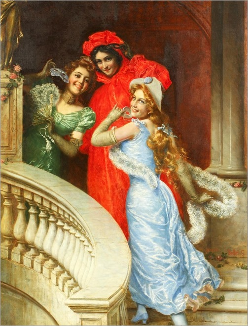 -Gaetano Bellei (Italian, 1857-1922) Off to the Masquerade