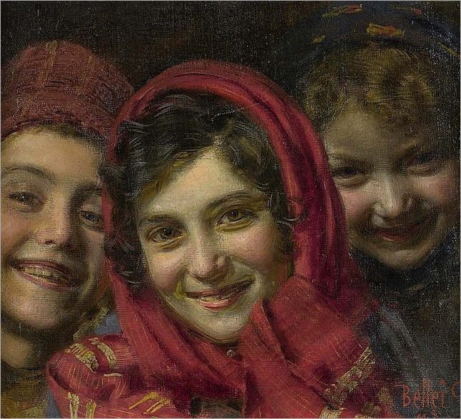 GAETANO BELLEI (ITALIAN, 1857-1922)-three children