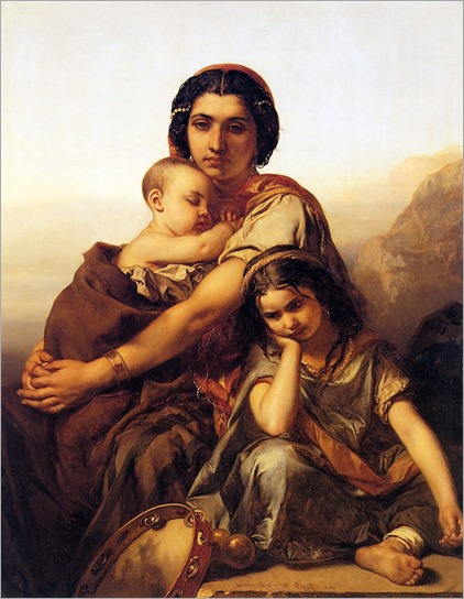 Gallait_Louis_A_gypsy_with_two_children