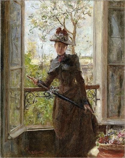 Garrido, Eduardo Léon -Am Fenster