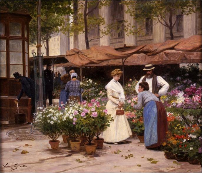 Gilbert-marche-aux-fleurs