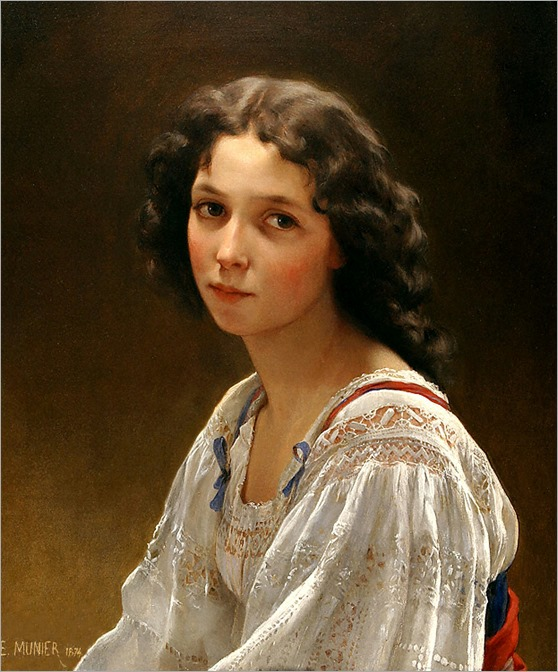 head-of-a-young-girl-by-Emile-Munier