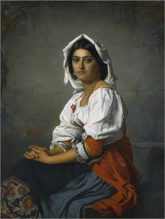 Henri Lehmann (1814-1882) La Jeune Italienne. 1863